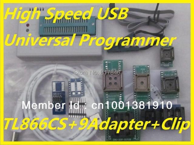 100% Original Russian english files V6.5 IC Clip+TL866CS EEPROM PIC AVR High Speed BIOS USB Universal Programmer+10 items