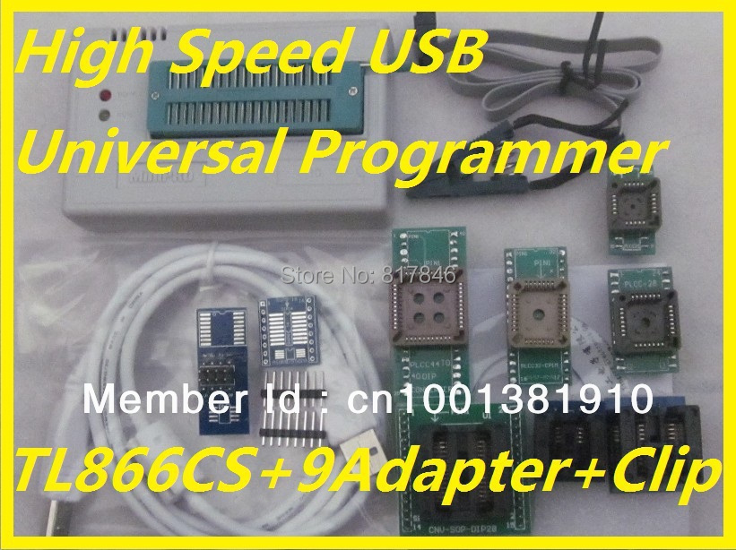100% Original Russian english files V6.6 IC Clip+TL866CS EEPROM PIC AVR High Speed BIOS USB Universal Programmer+10 items 2017 free shipping 100% original tl866a bios usb universal programmer icsp flash eeprom english