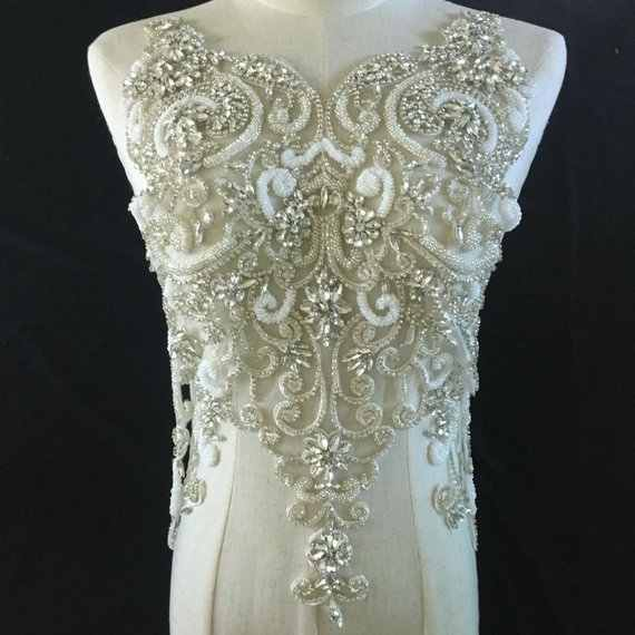 Detail Feedback Questions about large Rhinestone bodice applique for ... c899b895b171