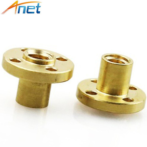 T8 Trapezoidal Copper Nuts 3D
