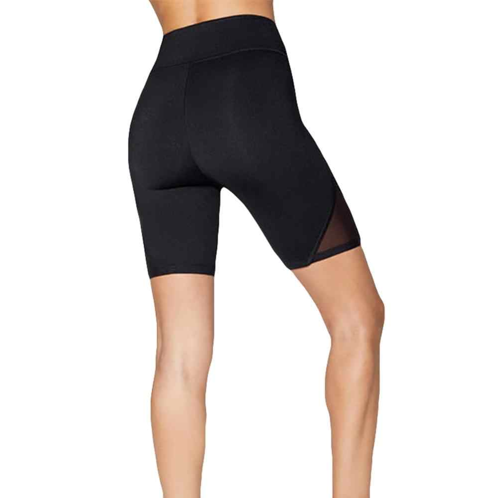 Hoge Vrouwen Yoga Shorts Hoge Taille Elastische Mesh Patchwork Sport Leggings Workout Out Fitness Gym Running Yoga Atletische Shorts