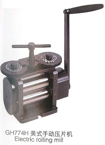 Hand Operated Rolling Mill 130 mm Rolls Combination Rolling Mill S type