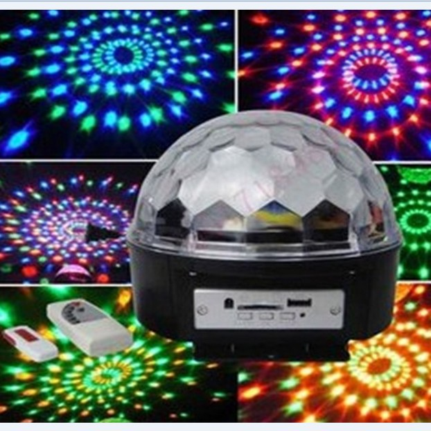NEW Magic Crystal Ball Disco Light Party Light laser projector sound stage light with usb dish and  remote control new arrival iron