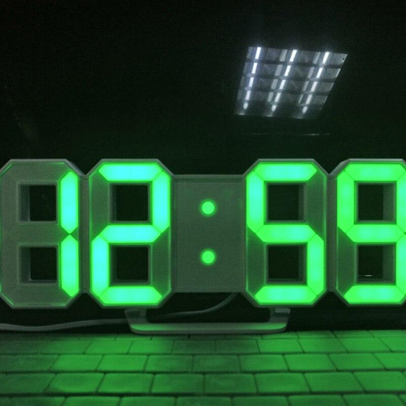 3D LED Digital Wall Clock With Large Timer Nightlight Brightness Adjustable For Office Home Hotel  SP99