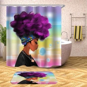 цена на Eco-Friendly Waterproof Bathroom Character Shower Curtain Polyester Fabric Bathroom Curtain Washable Bath Decor Shower Curtains