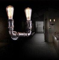 Loft Stil Metall Wasser Rohr Lampe Edison Wand Leuchte Retro Wand Leuchten Für Haus Vintage Industrielle Beleuchtung Lamparas-in Wandleuchten aus Licht & Beleuchtung bei