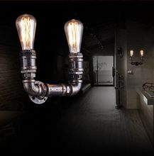 Loft Style Metal Water Pipe Lamp Edison Wall Sconce Retro Wall Light Fixtures For Home Vintage Industrial Lighting Lamparas(China)