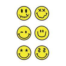 Wyuen Hot Waterproof Temporary Tattoo Stickers For Adults Kids Body Art Yellow Smiley Face Emoji EM-003 Fake Tatoo For Man Woman