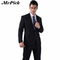 Jacket Pants Tie Bow Tie Handkerchief Men Wedding Dress Suits 2015 Wine Red Black Grey