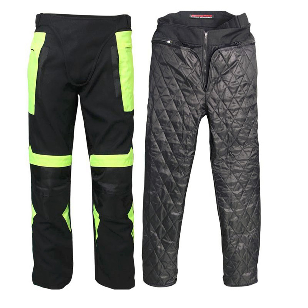 Men Warm Off Road Racing Pants Waterproof Motorcycle Reflective Motocross Riding Trousers Pants Protective Gear