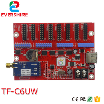 TF-C6UW(TF-WF-C) WIFI+USB Communication LED Display Control Card Support USB Updating Program and Single/Dual/Full Color Module