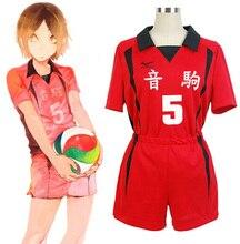 Haikyuu!! Nekoma lisesi #5 1 Kenma Kozume Kuroo Tetsuro Cosplay kostüm Haikiyu voleybolu topu takım forması spor üniforma