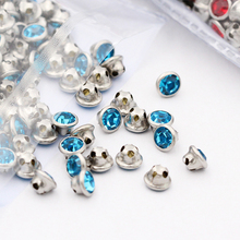 New Arrival Round Shape Strass Sew on Rhinestones with Claw Metal Base Buckle Glass Crystal Rhinestone Diy Clothing Accessories 2016 american new arrival hotsale regular round flower shape chain with big crystal clear rhinestone jewellery sets