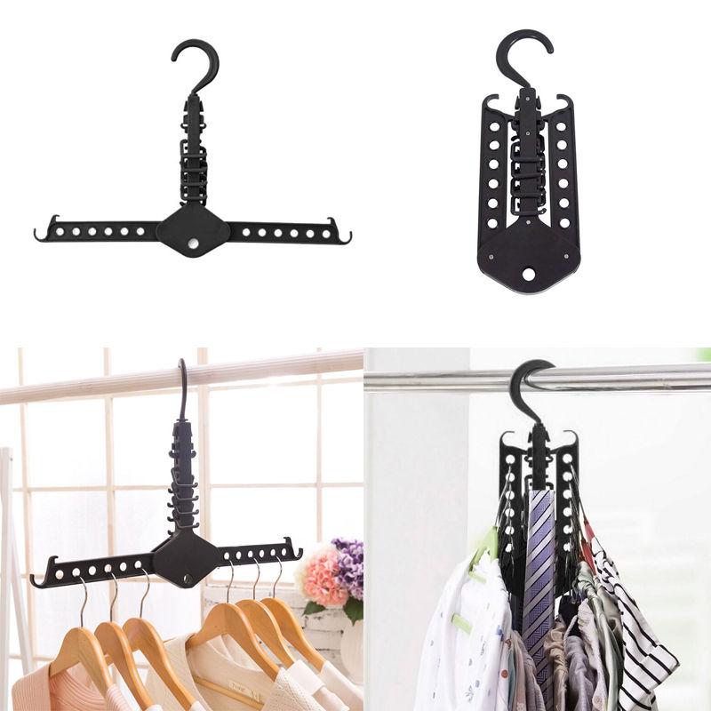 2017 new hot magic clothes multi hanger space saving folding hook rack wardrobe organizer on. Black Bedroom Furniture Sets. Home Design Ideas