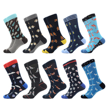 Jhouson 1 pair Hot Fashion Funny Novelty Mens Socks Personality Male Casual Cotton Crew Dress Cool Trendy Skateboard Sock
