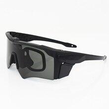 85948f59a307d1 AF militaire lunettes 3 Lentille Balistique Militaire Sport Hommes lunettes  de Soleil Polarisées Armée Bullet-