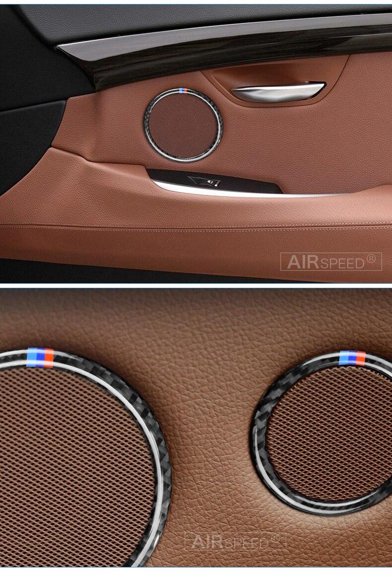 Airspeed for BMW F25 X3 X4 F26 X4 BMW F26 F07 Sticker for BMW X3 F25 Carbon Fiber Interior Trim Stickers Car Door Speaker Ring (9)