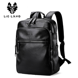 LIELANG New Arrival 2017 Men Backpack Fashion PU Leather Backpacks Laptop Bags External USB Charge Computer Antitheft Backpack