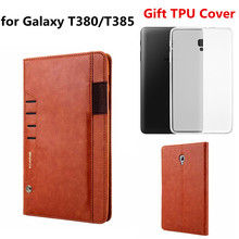 цены на New Fashion Smart Case for Samsung Galaxy Tab A 8.0 SM-T380 SM-T385 2017 Edtion Luxury PU Leather Stand Case Tablet Cover 8 Inch  в интернет-магазинах