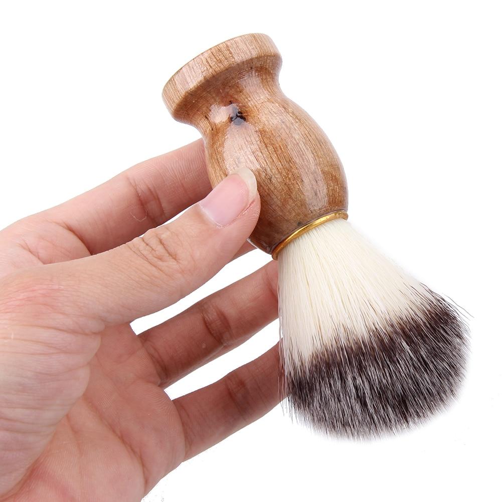 Badger Hair Men's Shaving Brush Barber Salon Men Facial Beard Cleaning Appliance Shave Tool Razor Brush with Wood Handle for men 5