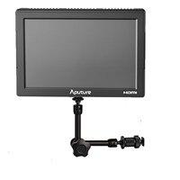 Aputure VS-5 HD-SDI HDMI 1920*1200 וידאו צג + 7 inch זרוע קסם לסוני Canon ניקון DSLR מצלמה