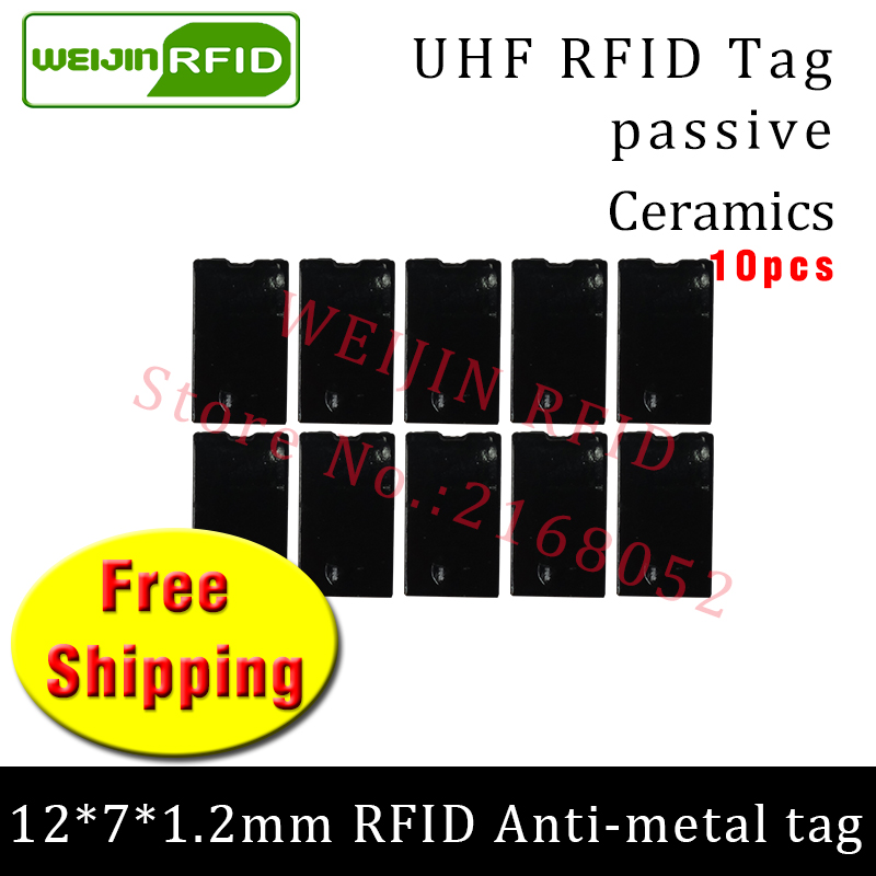 UHF RFID anti metal tag 915mhz 868mhz Alien Higgs3 EPC 10pcs free shipping 12*7*1.2mm thin Ceramics fixture passive RFID tags uhf rfid metal tag 915m 868m epc iso18000 6c 20pcs free shipping tools management 12 7 1 2mm thin ceramics passive rfid tags