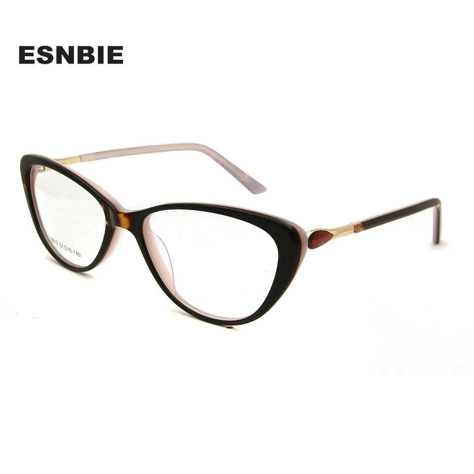 f0ade8d07ba ESNBIE Acetate Women S Cat Eye Spectacle Glasses Female Optical Glasses  Frame 2018 Lunette Femme Ukraine Eyewear Accessories -in Eyewear Frames  from Apparel ...