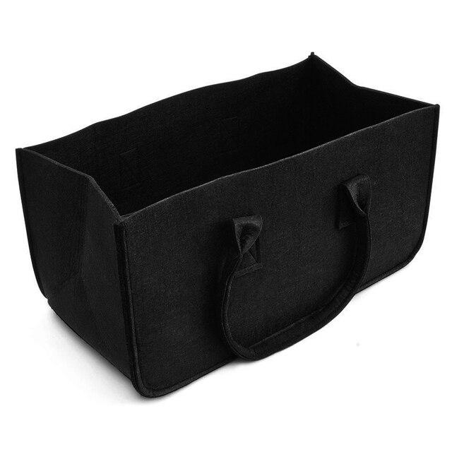 Sac en feutre noir cheminée sac en bois panier en feutre poche en bois de feu panier de bois de chauffage panier en feutre étals de journaux panier à journaux