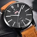 Benyar marca homens relógios populares couro moda casual relógio de quartzo homens relógio de pulso masculino relógio relogio masculino 2017 venda quente