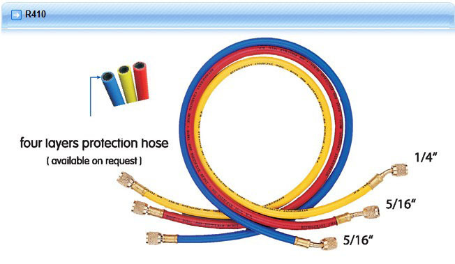 Hongsen CT-360 Three colors Refrigeration Charging Hose 150cm For R410 [randomtext category=