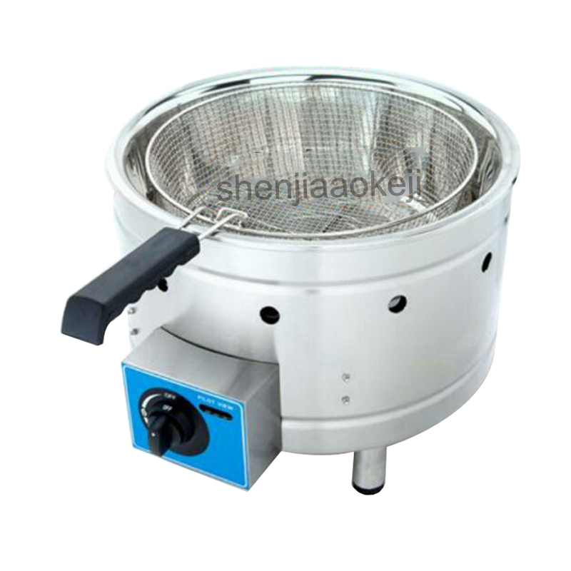 Stainless Steel single basket 15L Commercial deep fryer fried whole chicken fritters french fries Gas fryer 1pcStainless Steel single basket 15L Commercial deep fryer fried whole chicken fritters french fries Gas fryer 1pc