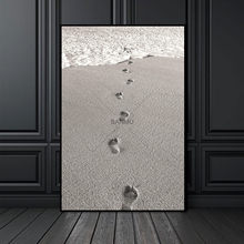 Canvas Painting Scandinavian Nordic poster Picture Beach Foot prints Abstract Wall Picture Living Room Art Decoration No Frame(China)