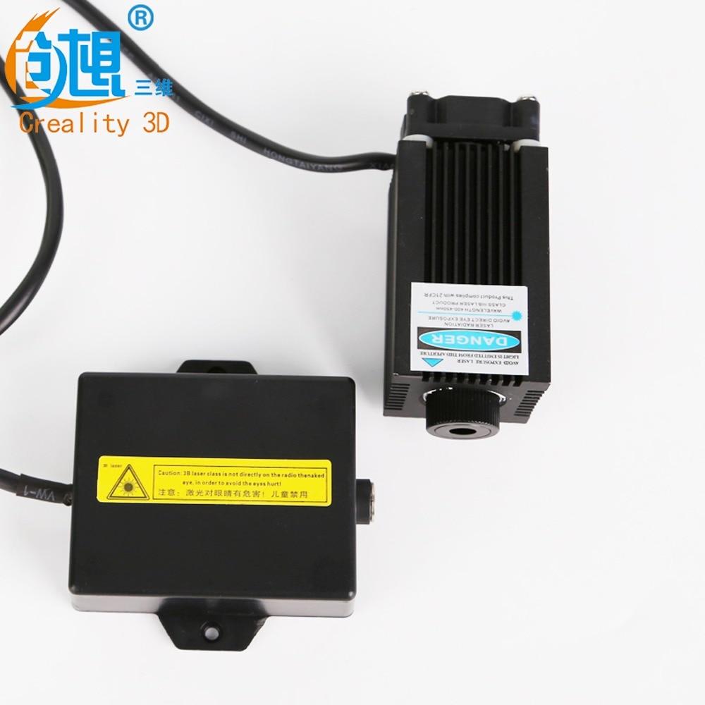 US $50 0 |12V High power Creality 3D printer Laser Engraving laser head  module laser tube blue violet laser engraving-in 3D Printer Parts &