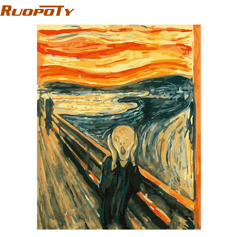 RUOPOTY DIY Painting By Numbers Kits Abstract Picture Paintis