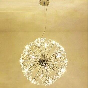 الحديث LED كريستال قلادة مصباح الهندباء الثريا تركيب المصابيح لغرفة الطعام غرفة نوم Lustres دي كريستال AC110V ~ 240 فولت