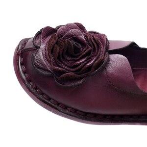 Image 5 - GKTINOO Casual Genuine Leather Flat Shoe Women Shoe Flower Slip On Driving Shoe Female Moccasins Women Flats Lady Shoes