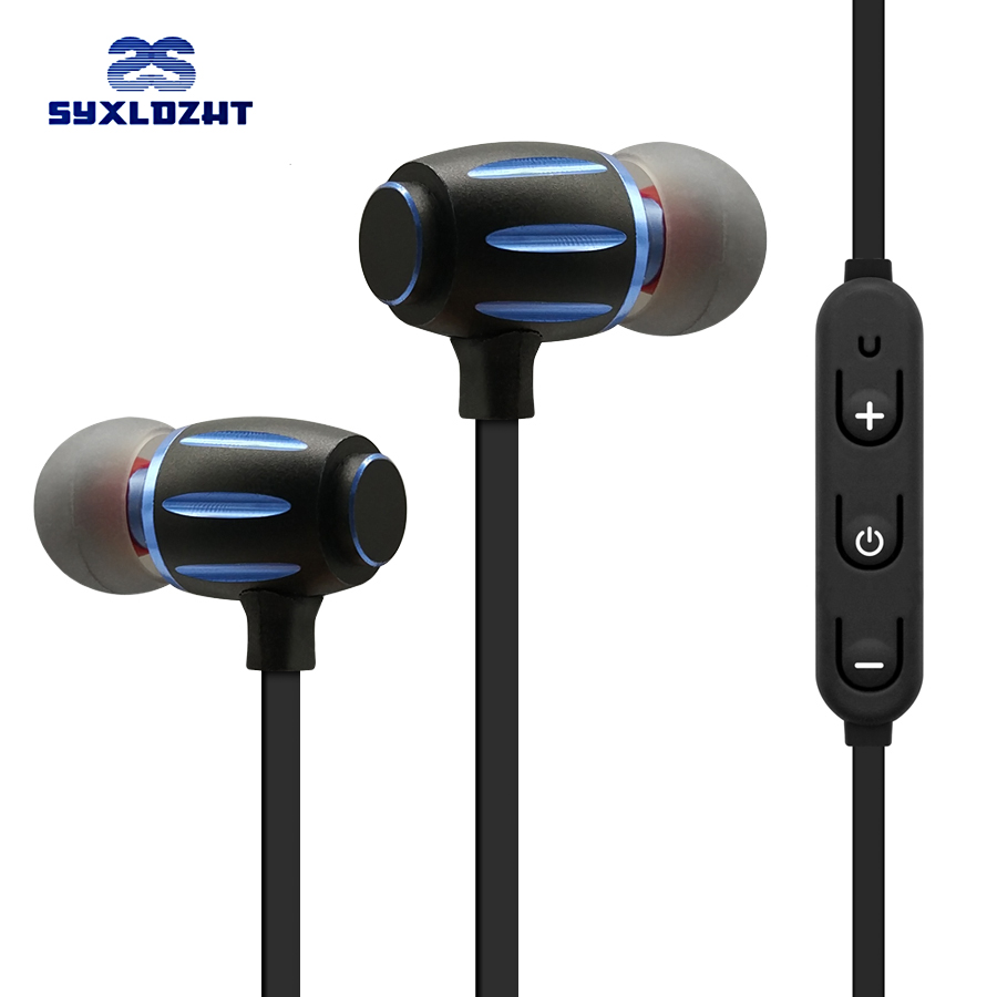 SYXLDZHT Bass Wireless Bluetooth headphones earphone with microphone sport Magnetic Bluetooth Earbuds headset For Mobile Phone