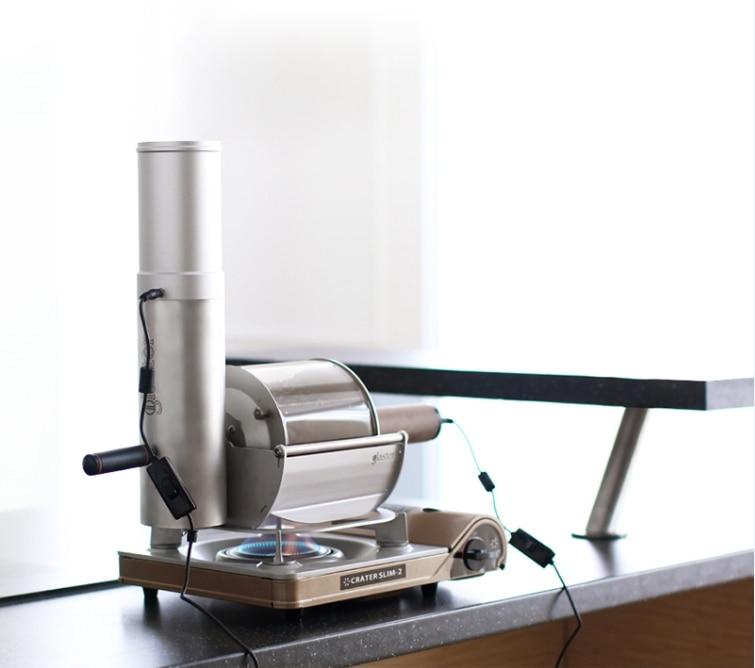 Coffee bean roaster glaster casa de fogo em linha reta máquina de torrefação de café pequeno uso loja torrador de café 500g de café torrador de feijão