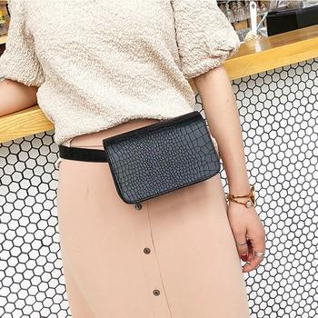 Alligator Pattern Waist Packs Women Leather PU Adjustable Belt Bag Waist Pack Wallet Phone Pouch Ladies Salesperson Work Bags
