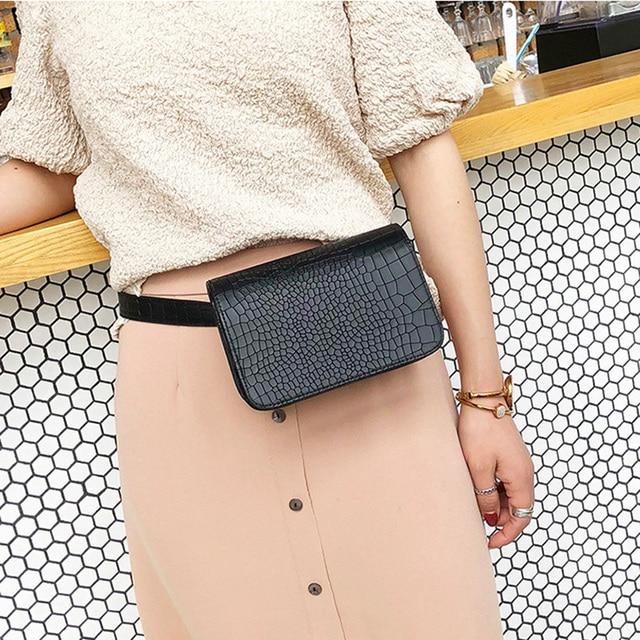 Аллигатор шаблон сумки на пояс для женщин кожа PU Регулируемая сумочка на ремне поясная упаковка бумажник чехол для телефона дамы продавца Сумки для работы