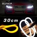 Гибкие 2x30 см LED Автомобилей Дневного Света LED DRL Single/Двойной Цвет Светодиодные Ангел Глаз лампы Бесплатная Доставка