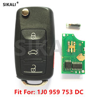 SIKALI Car Remote Key For 1J0959753DC For VW VolksWagen Beetle CC EOS GTI Golf Passat Jetta