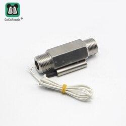 """1/2 """"110 V 220V gwint męski porty stal nierdzewna Metal Shell przełącznik czujnika przepływu wody w płynie ZFS 04S do sterowania ogrzewaniem w Czujniki przepływu od Narzędzia na"""