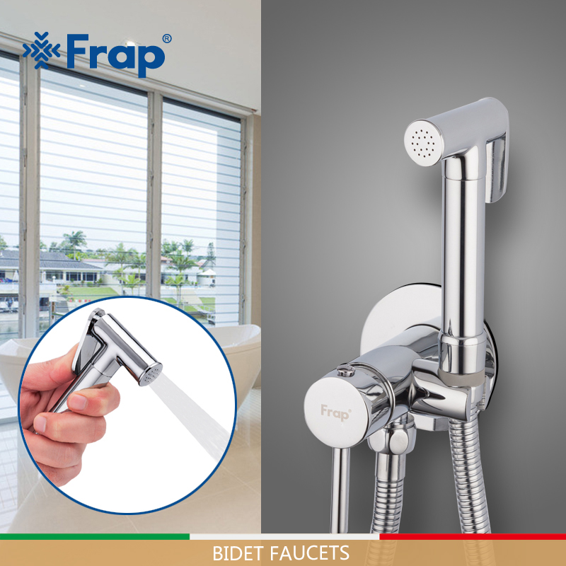 FRAP Bidet faucets brass bathroom toilet washer mixer muslim shower shower tap bidet toilet sprayer ducha higienica toilet tap in Bidet Faucets from Home Improvement