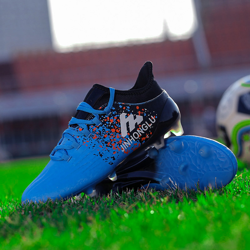 Football shoes spikes boys and girls primary and secondary school students broken nails non slip adult grass wear sports trainin