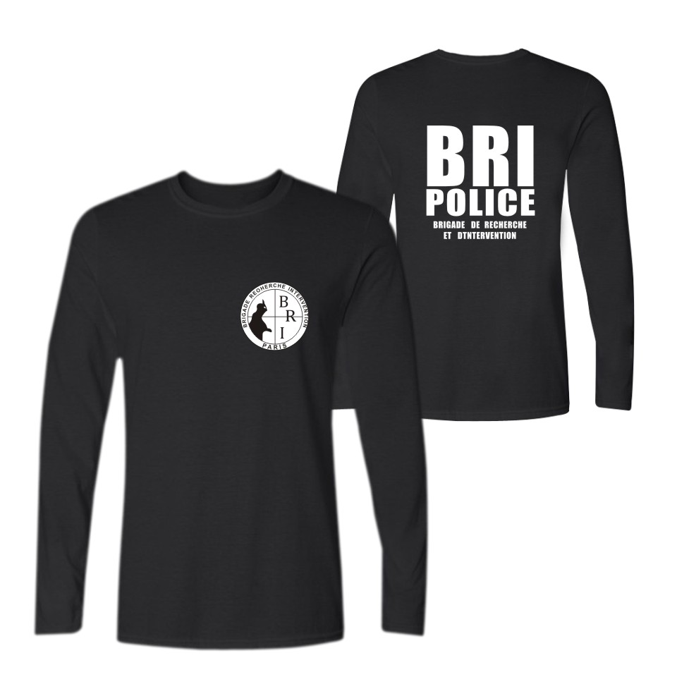 France French Special Elite Police Forces Unit GIGN BRI Reflective T Shirt Men Casual TShirt Homme 100% Cotton T-shirt Men Tops