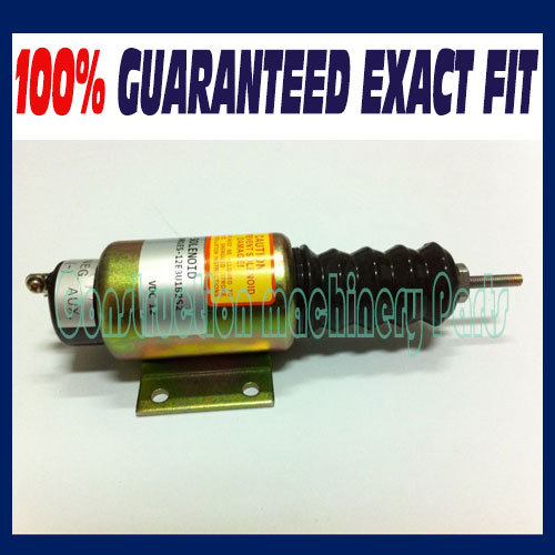Fast free shipping, FUEL SHUT OFF SOLENOID 2001ES-12E3U1B2S2 SA-5174-12 (12V, 2 terminals) FOR C UMMINS minimum minimum mi036emhog89