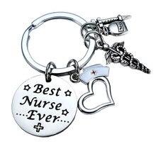 e96589287dca 12 pc lot amor corazón del Caduceo jeringa estetoscopio encanto mejor  enfermera nunca Acero inoxidable