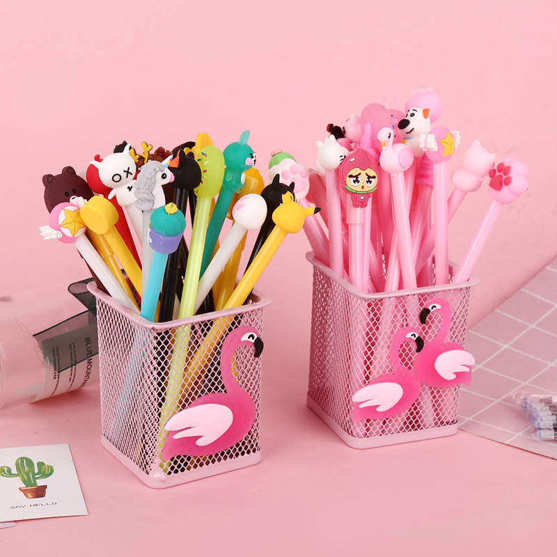 20 Pcs Set gel pen Kawaii caneta Creative lapices unicorn papelaria kalem stationary material escolar cute boligrafo in Gel Pens from Office School Supplies