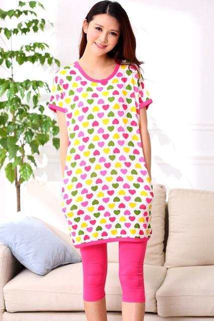 45959a8f39 Hot 2016 Fashion Summer Womens Modal Cartoon Pajamas Sets Short Sleeve  Knee-Length Shorts Sleepwear